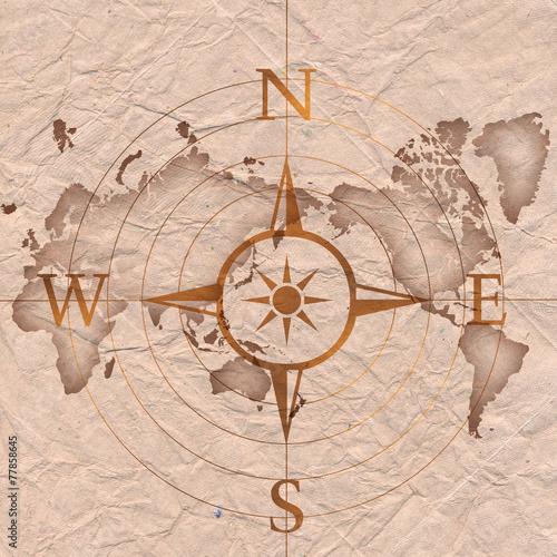 mapa-retro-z-kompasem