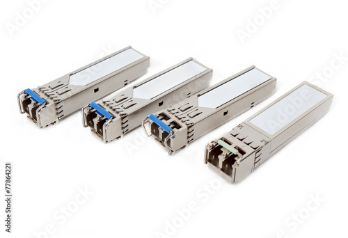 Fotografie, Obraz  Optical gigabit sfp modules for network switch