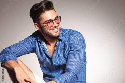 Fotografie, Tablou  Portrait of a handsome fashion man smiling