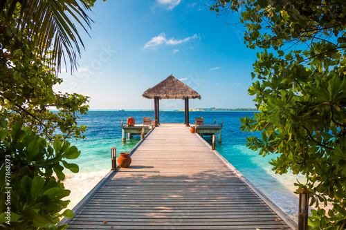 Fotografie, Obraz  Maldives, a place on the beach for weddings.