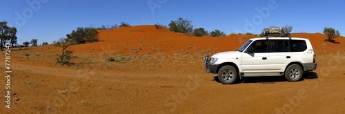Fototapeta Red sanddunes, Windorah, Queensland, Australia obraz na płótnie