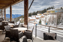 Terrace Covered By Snow At Ski...
