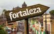 Fortaleza wooden sign, Brazil