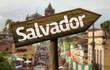 Salvador wooden sign, Brazil
