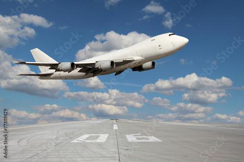 Large white plane Canvas Print