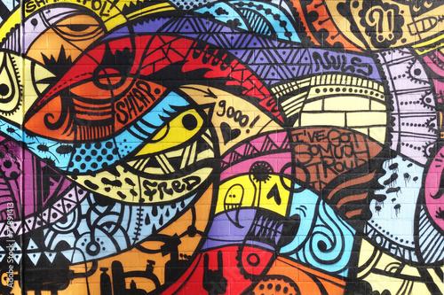 Photo Street art - Graffiti wall