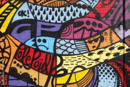 plakat Street Art - Graffiti mur