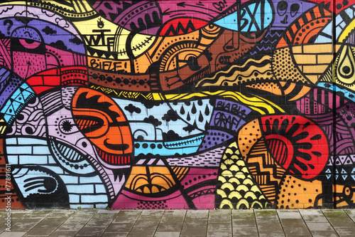 Photo  Street art - Graffiti wall
