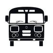 Retro Bus Icon, Vector Illustration