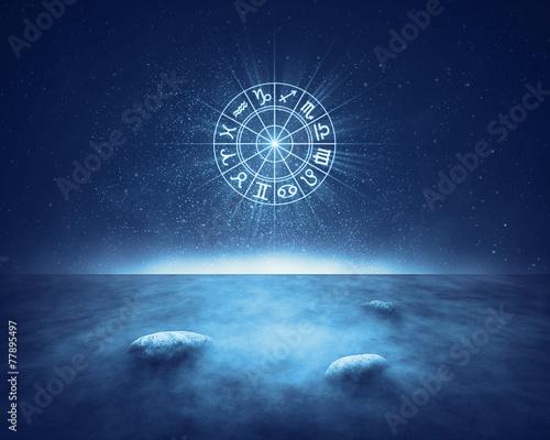 Fototapeta Zodiac signs horoscope landscape