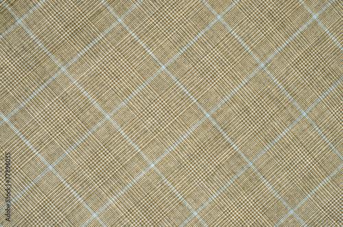 Photo  Brown and blue guncheck pattern on fabric.Rhombus tartan design.