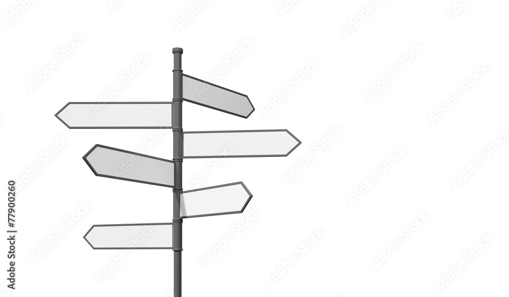 Fototapeta blank road sign