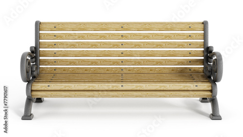 Canvas Print Park Bench
