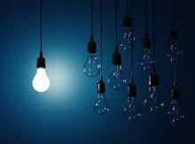 Hanging Light Bulbs With Glowi...