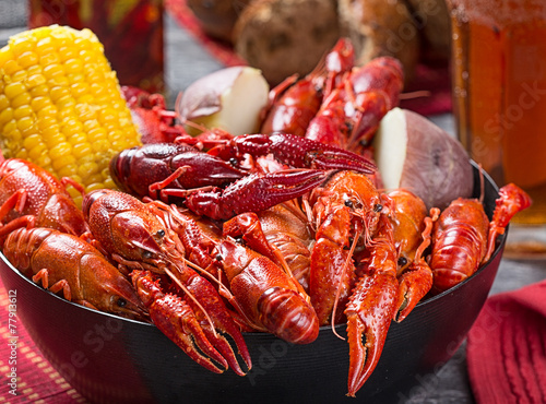 In de dag Schaaldieren Creole style crawfish boil