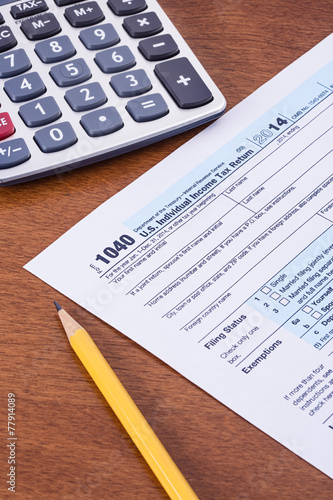 Federal Income Tax form 1040 for the 2014 tax year - Buy