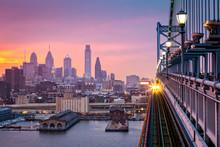 Philadelphia Under A Hazy Purp...