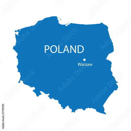 Fotografía  blue map of Poland
