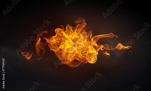 Fotobehang Vuur Fire flames