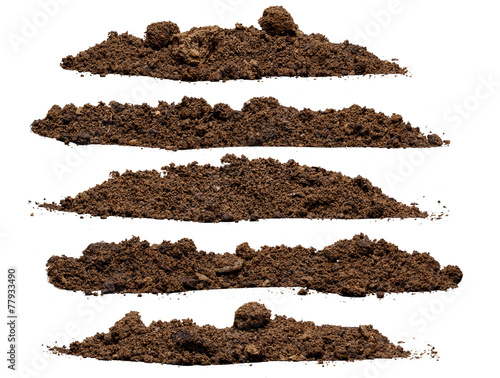 Set pile of soil