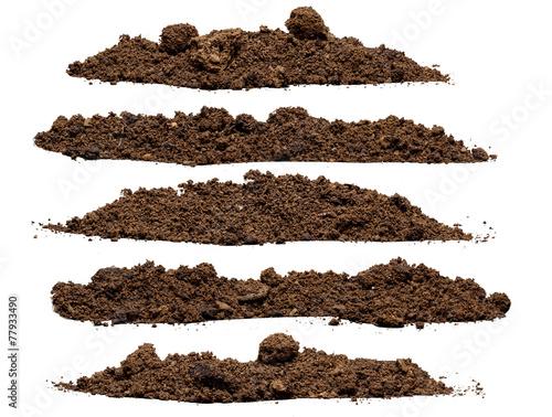 Fotomural  Set pile of soil