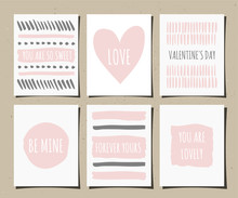 Hand Drawn Greeting Cards Coll...