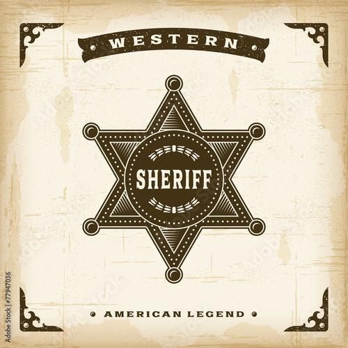 Photo  Vintage Western Sheriff Badge