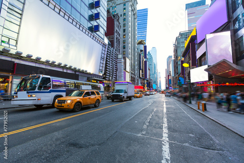 Staande foto New York TAXI Times Square Manhattan New York deleted ads