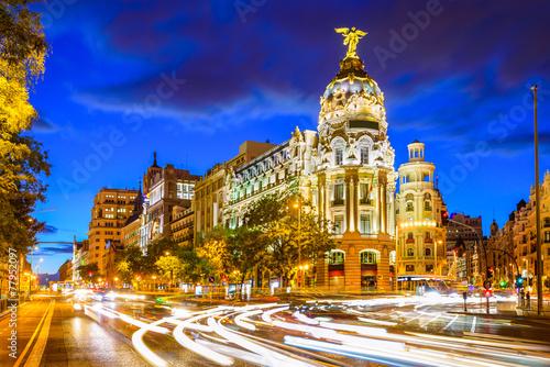 Spoed Fotobehang Madrid Madrid, Spain at Gran Via
