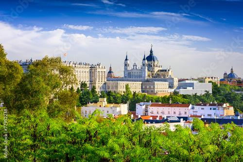 Spoed Fotobehang Madrid Cathedral of Madrid, Spain