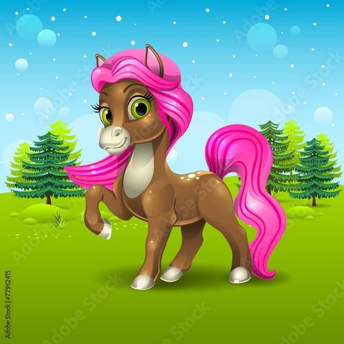 Photo Stands kids room Brown pony