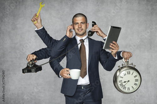 Photo multipurpose businessman
