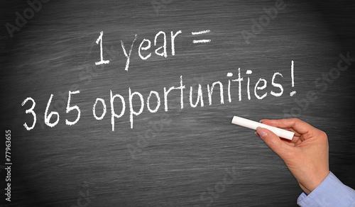 Fényképezés  1 year = 365 opportunities