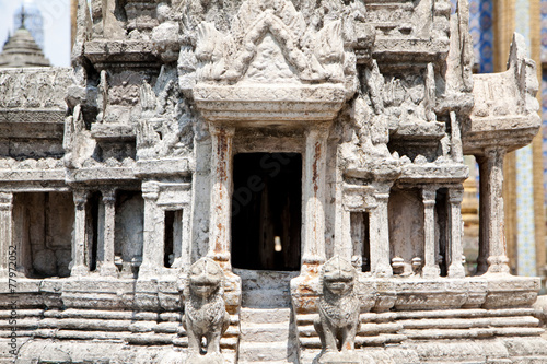 Foto op Aluminium Bedehuis Stone temple model design