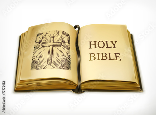 Photo Bible, vector illustration