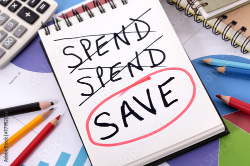 Spending and saving message Canvas-taulu