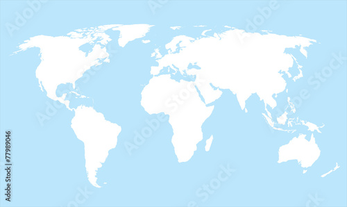 World map countries white outline cyan eps10 vector buy this stock world map countries white outline cyan eps10 vector gumiabroncs Choice Image