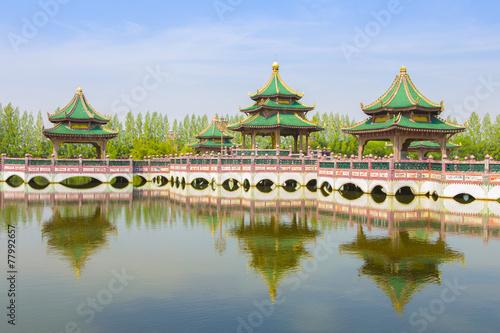 Ingelijste posters Beijing bridge