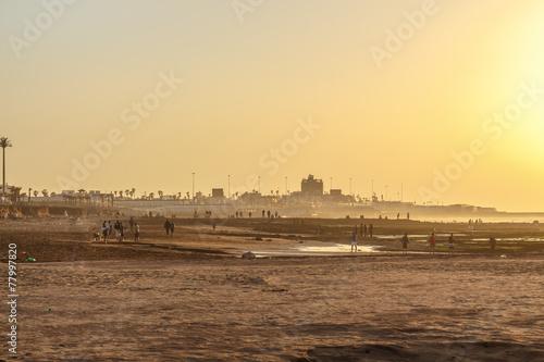 Foto  People on the beach. Casablanca, Morocco