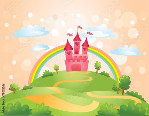 fototapeta na lodówkę Fairy Tale castle.