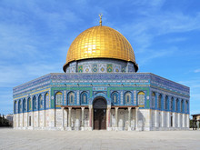 Dome Of The Rock Mosque On The...