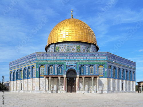 Dome of the Rock Mosque on the Temple Mount in Jerusalem, Israel Fototapeta