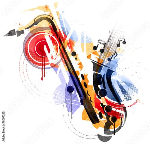 Vászonkép Art of Sax