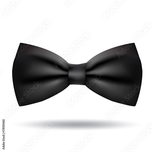 Fotografiet Vector bow tie icon isolated on white background