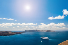 Cruise Liners Near The Greek Islands