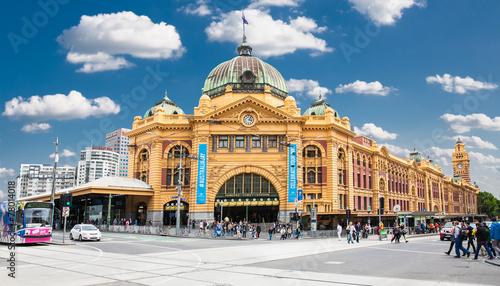 Poster Oceanië Flinders street Station in Melbourne. Australia.
