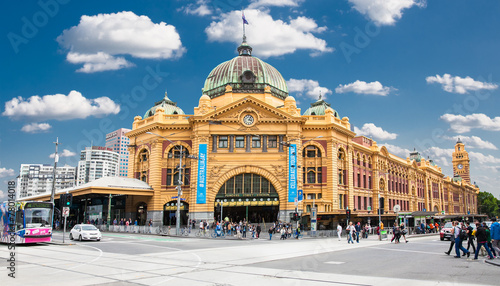 Fototapeta premium Stacja Flinders Street w Melbourne. Australia.