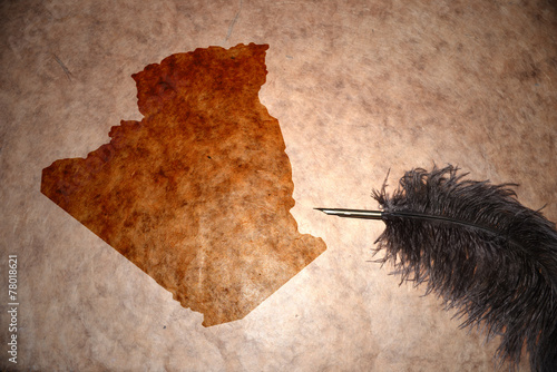 Keuken foto achterwand Algerije Vintage algeria map