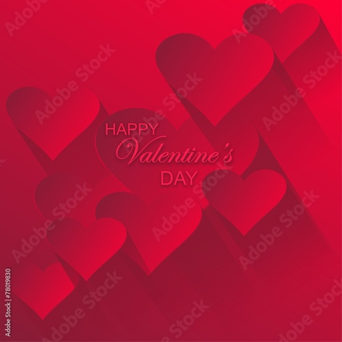 Spoed Foto op Canvas Violet Happy Valentine's Day