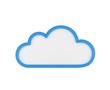 Leinwandbild Motiv blue blank cloud